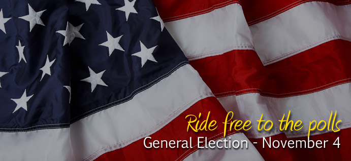 Ride free to the polls