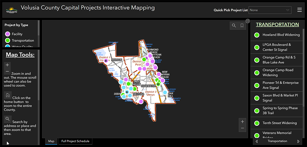 interactive capital project map