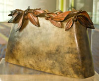 """Memories"" by Sang Parkinson Roberson is one of three clay vessels on display at the Ocean Center."