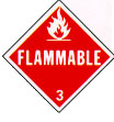 Flamable sign