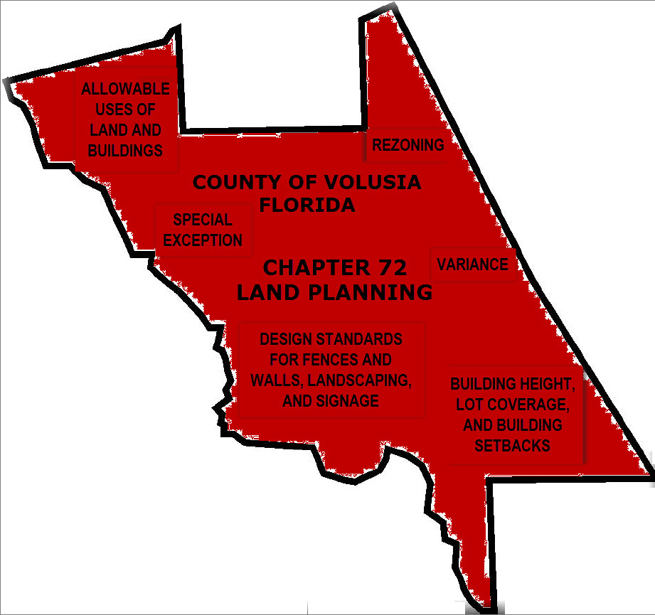 Volusia Map Red Image