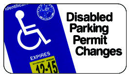 Disabled Parking Permit Changes