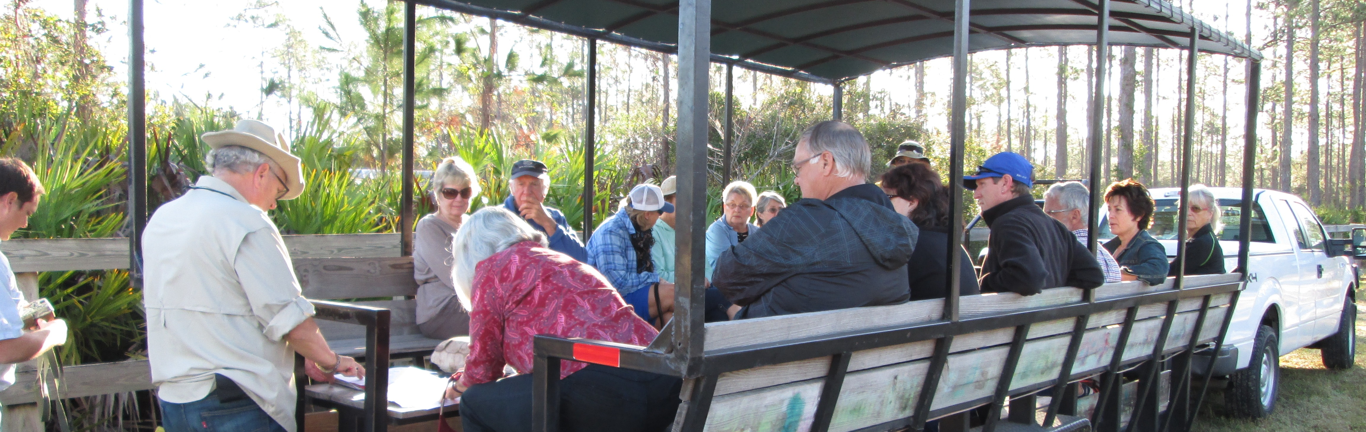People on an Eco Buggy Tour with Explore Volusia