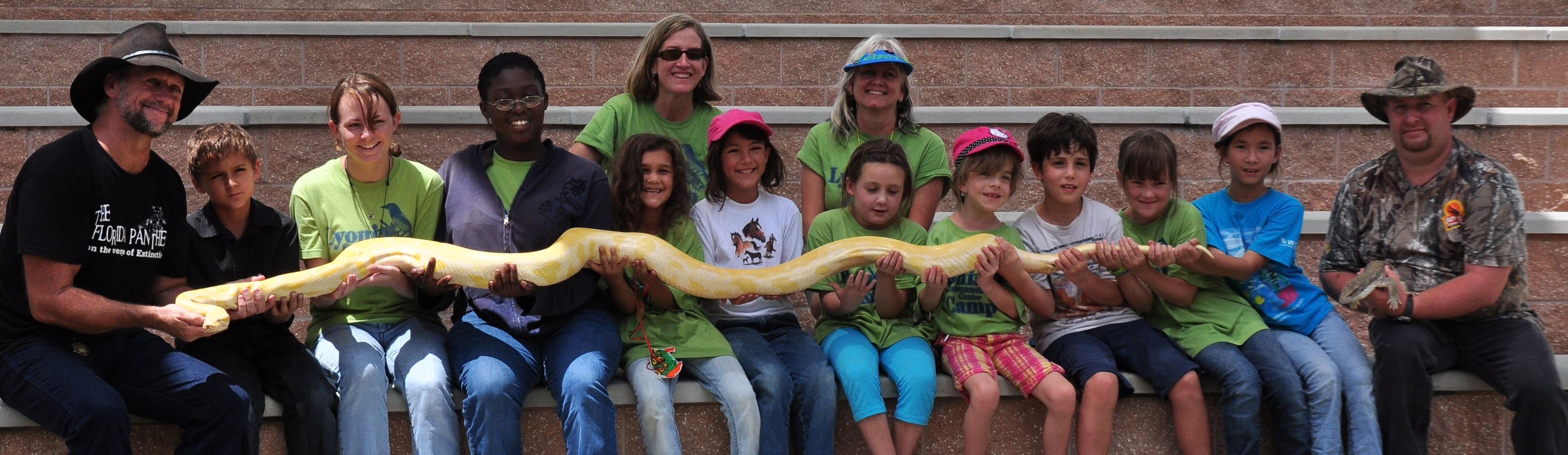Lyonia Environmental Center kids with snake