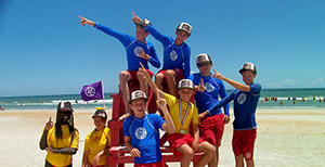 kids on lifeguard stand