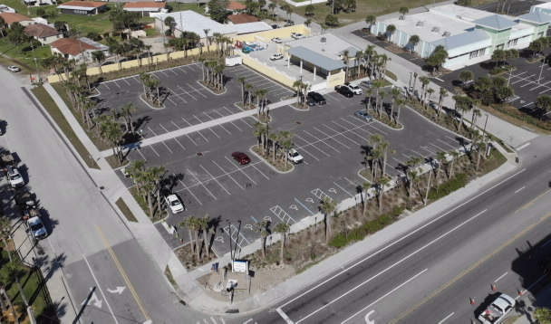 Cardinal avenue off beach parking aerial photo