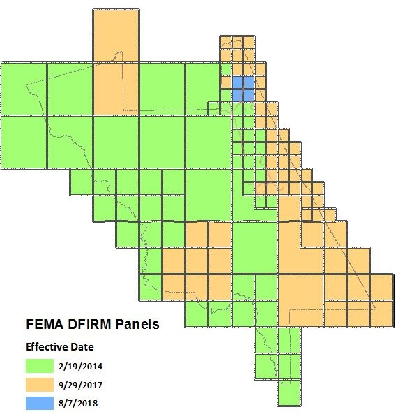 Flood Risk Index Panels by update year