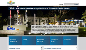 Volusia County Economic Development website