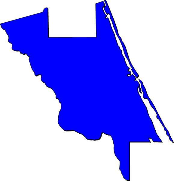 blue shape of county map